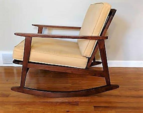 brand new 9b887 df006 Mid Century Danish Modern Rocking Chair, Made in Yugoslavia
