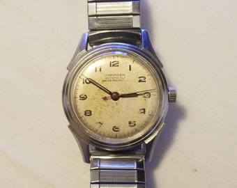 6598efd72 Rare Vintage Hampden Automatic 25 Jewels Swiss Made Military Men's Watch