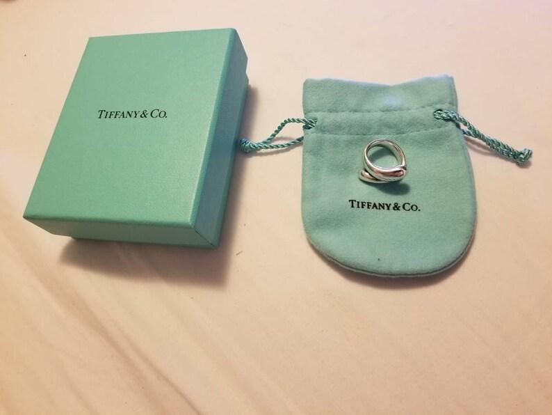 e48fff97ea Tiffany & Co Elsa Peretti Sterling Teardrop Tear Drop Ring Sz | Etsy