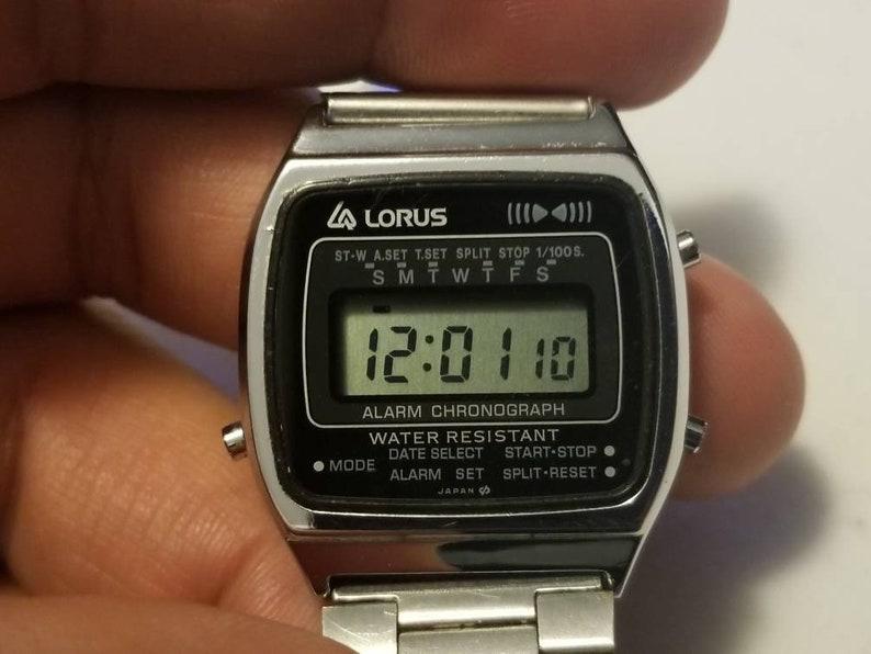 c13ef8ee9573 Vintage Lorus Y799-4310 Alarm Chronograph Digital Watch