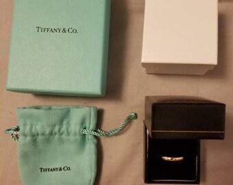 Vintage Tiffany & Co 1999 18k Gold 750 Wedding Band (Size 8)