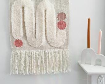 Mid Century Wall Hanging Tapestry Fiber Art Modern Art