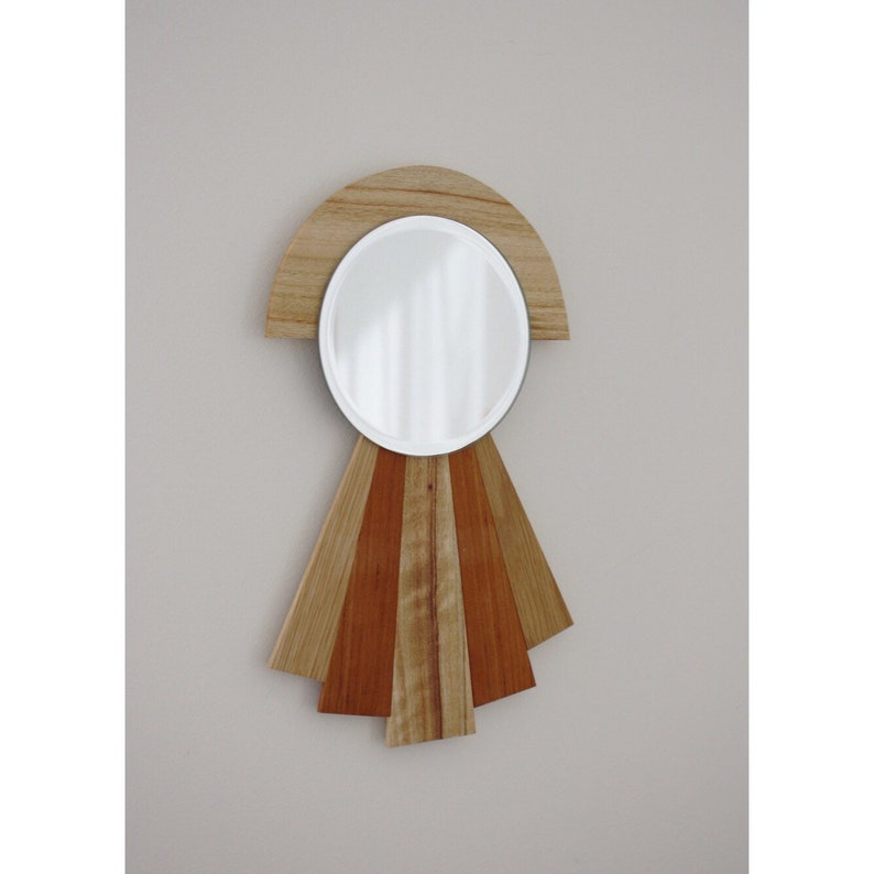 Art Deco Mirror Wall Mirror Wood Mirror Art Deco Mirror Wooden Mirror Reclaimed Timber Mirror
