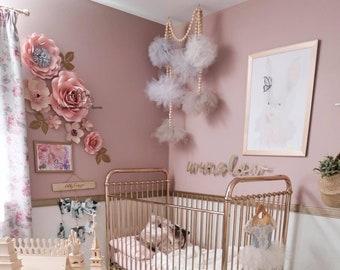 WINNIE DOT 1 Paper flower backdrop/Paper flower wall/Wedding Backdrop/Bridal Baby shower/Nursery decor/Baby room deco/Holy communion/Baptism