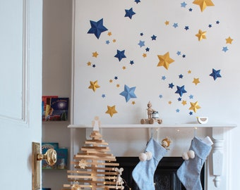 Pack of 55 3D stars plus 55 flat stars (fold them easy DIY)