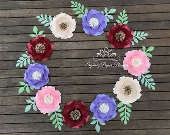 Paper flower peony WREATH / Baby shower/Bridal shower/Wedding favours/Thank you gifts/Party favours/Birthday party decor/Sweet table decor