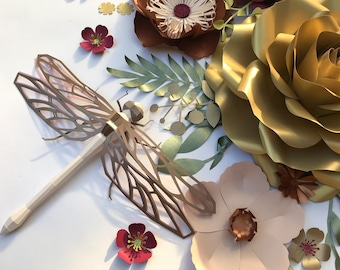 DRAGONLY 3D Paper model / Nursery styling / Baby shower decor / Christening / Easter / Mothers day/Kids party/Birthday / Cake table