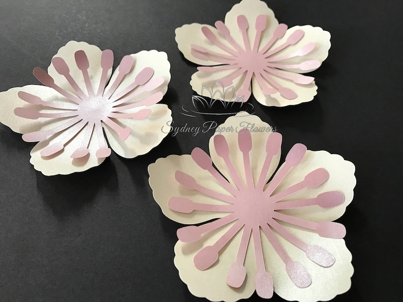 6 cherry blossom paper flowers AS ADD ON only when you buy a image 0