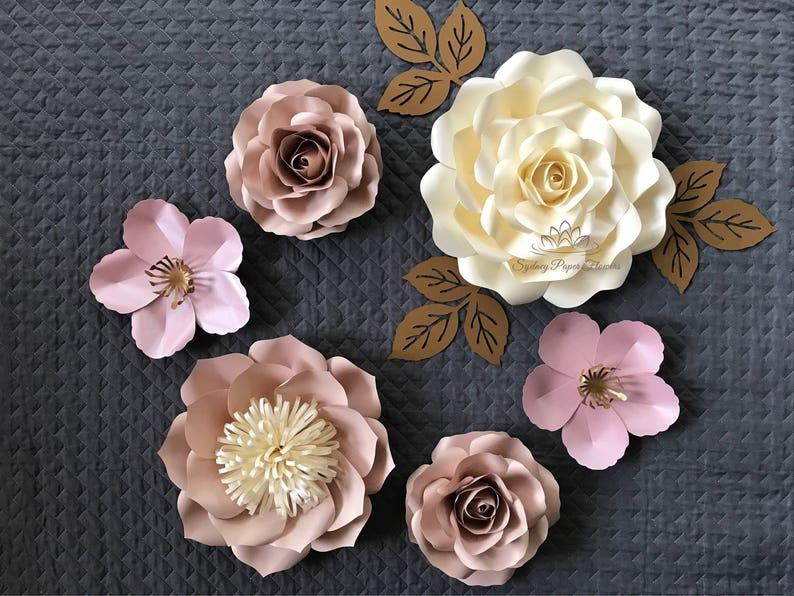SUPER MINI 4 paper flower backdrop/Paper flower wall/Wedding image 0