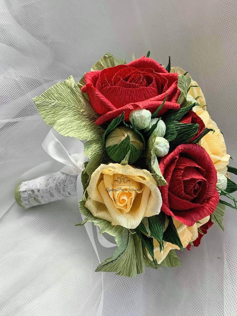 Bridal bouquet buttonhole wrist band flower girl bridesmaid/ image 0