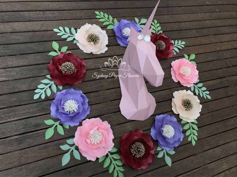 Paper Sculpture 3d Unicorn Princess Baby Room Nursery Styling Its A Girl 1st Birthday Baby Shower Decor Kids Party Birthday Party Photo Prop