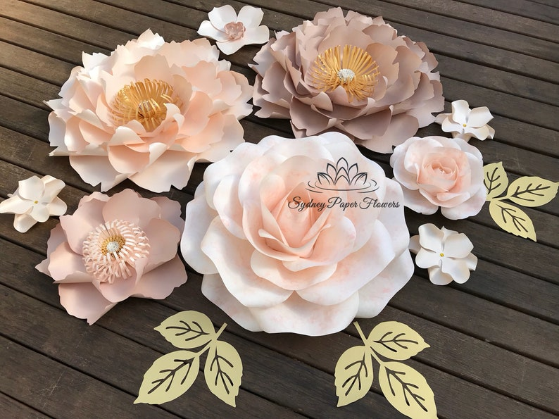 FIONA Paper flower backdrop/Paper flower wall/Wedding image 0