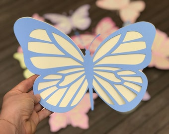 Pack of 10 large double layered butterflies