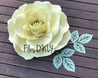 Tipsy ROSE Flower Templates & Manual/Paper flower pattern/PDF SVG paper flower/diy paper flower/diy flower backdrop/Paper flower wall