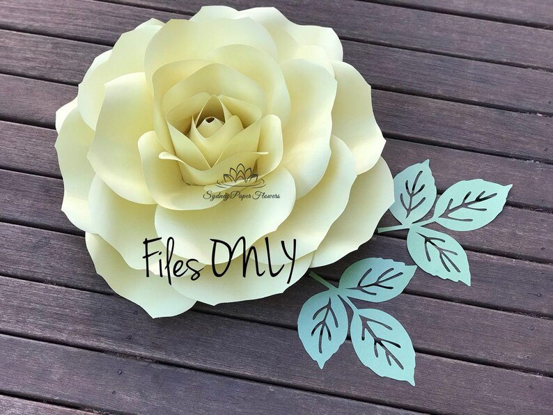 Tipsy ROSE Flower Templates & Manual/Paper flower pattern/PDF image 0