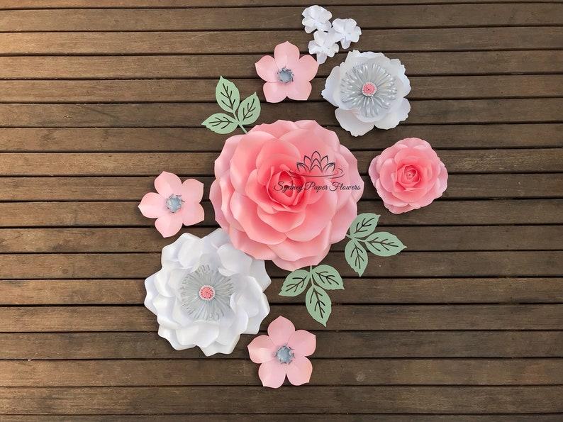 SIENNA rose Paper flower backdrop/Paper flower wall/Wedding image 0
