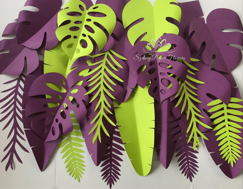 TROPICAL leaves backdrop/Jungle party backdrop/Tropical image 0