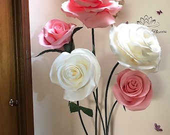 HIRE giant flowers ROSE or PEONY freestanding paper flower/Wedding flower/birthday party /home styling/wedding centerpiece/window display