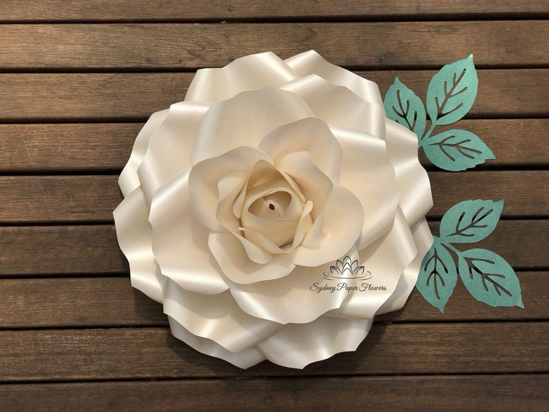 LARGE ROSE Flowers Template & VIDEO tutorial/Paper flower image 0