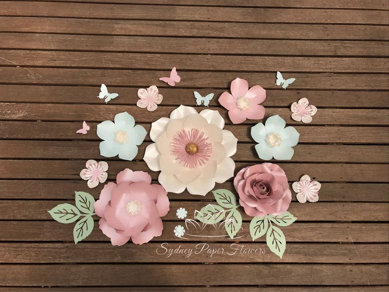 Super Mini 6 Paper Flower Backdrop Paper Flower Wall Wedding Backdrop Backdrop Bridal Or Baby Shower Sweet Table Christening Dessert Table