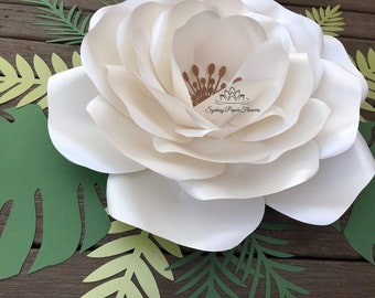 AnaVictoria ROSE Paper Flower Template & Tutorial manual/svg pdf CriCut Silhouette Cameo DIY paper flower pattern/How to make a paper flower