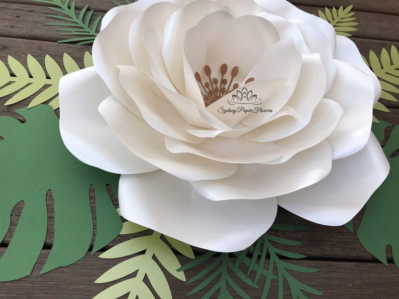 AnaVictoria ROSE Paper Flower Template & Tutorial manual/svg image 0