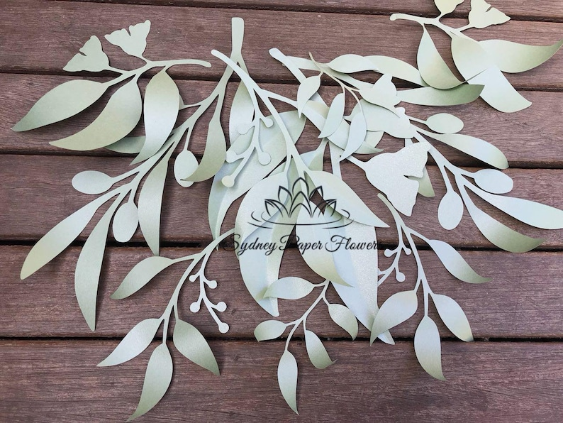 5 Eucaliptus Leaves Templates Set1 Video Tutorial Svg Pdf Cricut Silhouette Cameo Download Paper Flower Leaves Pattern Paper Flower Leaves