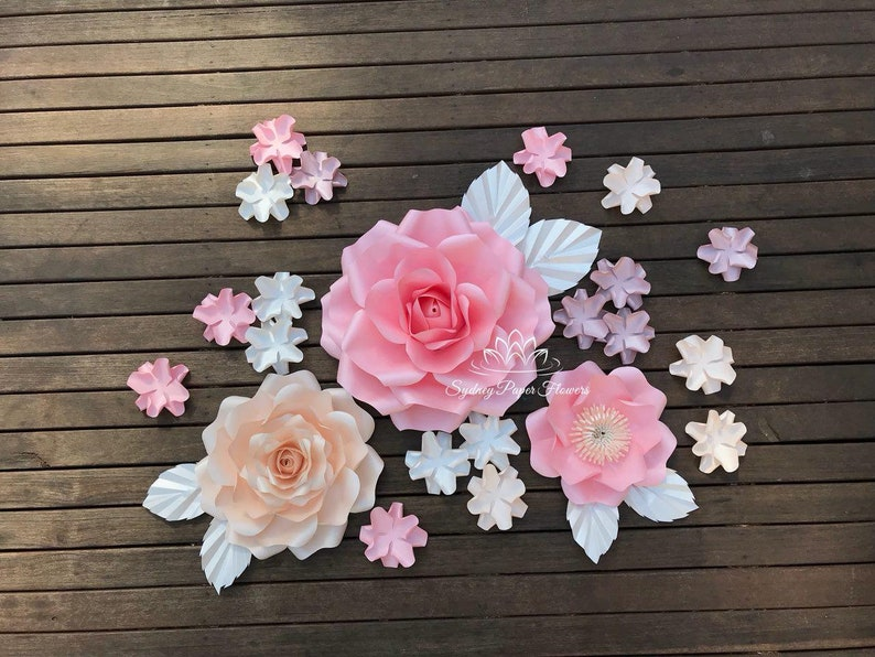 SUPER MINI ROSE Paper flower backdrop/Paper flower image 0