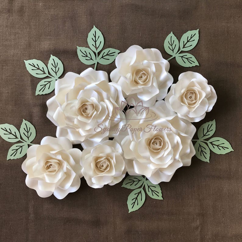 ALL about ROSES small Paper flower backdrop/Paper flower image 0