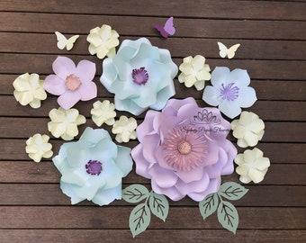 SUPER MINI Spring Paper flower backdrop/Paper flower wall/Wedding Backdrop/Bridal Baby shower/Nursery decor/Christening/Sweet 16/Holy commun