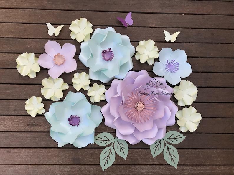 SUPER MINI Spring Paper flower backdrop/Paper flower image 0