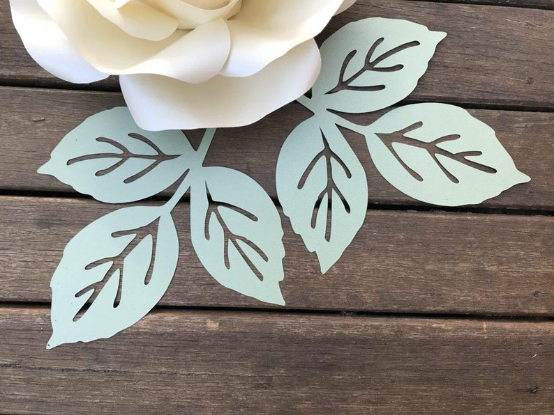 ROSE paper flower LEAF template pdf svg pattern/Paper flower image 0