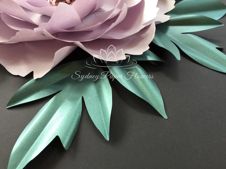 Peony Paper Flower Leaf Template Pdf Svg Pattern For Cameo And Cricut Paper Flower Leaf Template Diy How To Make A Paper Flower Leaf