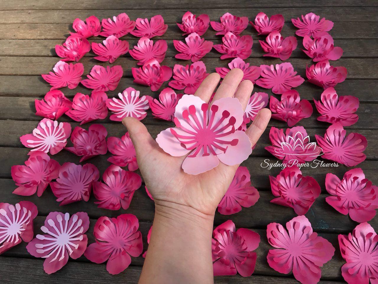 Cherry Blossom Paper Flower Template Amp Tutorial Svg Pdf