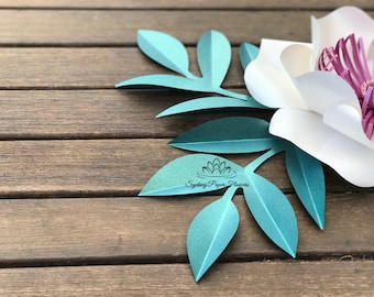 Simple paper flower LEAF template PDF SVG pattern/Paper leaf template/Paper flower leaf template/Paper art/diy decor/Birthday party decor
