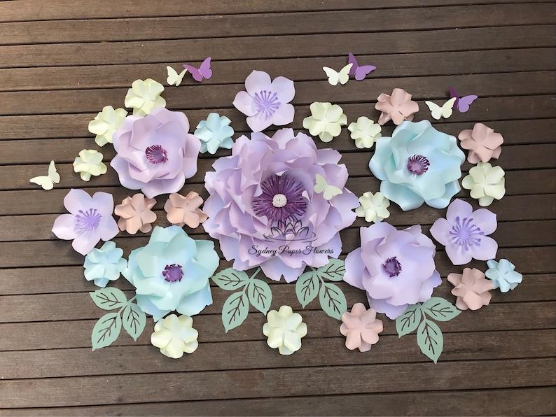 Spring Unicorn Paper Flower Backdrop Paper Flower Wall Wedding Backdrop Bridal Baby Shower Nursery Decor Christening Sweet 16 Holy Commun