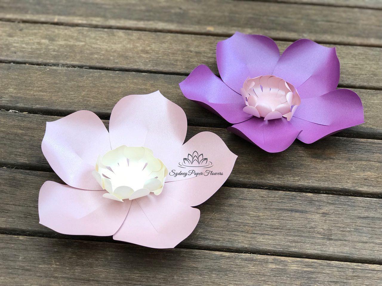 Magnolia Paper Flower Video Tutorial Templates Plus Flower Etsy