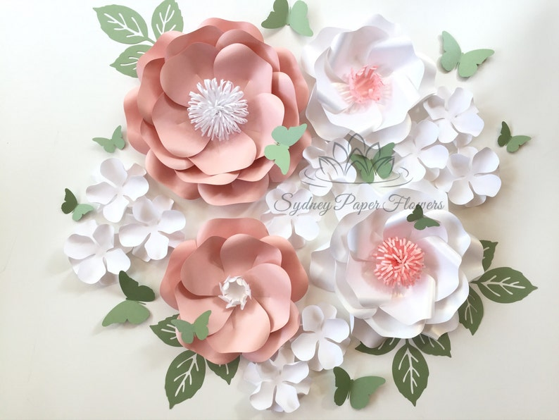 WHITE SPRING Paper flower super mini backdrop/Paper flower image 0