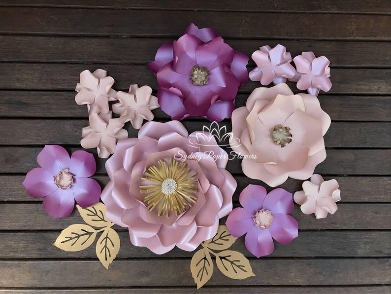 Lily Loves Luka SUPER MINI paper flower backdrop/Paper flower image 0