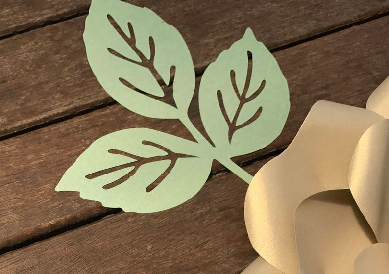 extra paper flower leaves AS ADD ON only/Baby shower/Bridal image 0