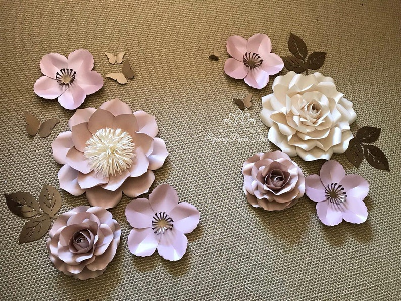 SWEET LEAH Paper flower backdrop/Paper flower wall/Wedding image 0