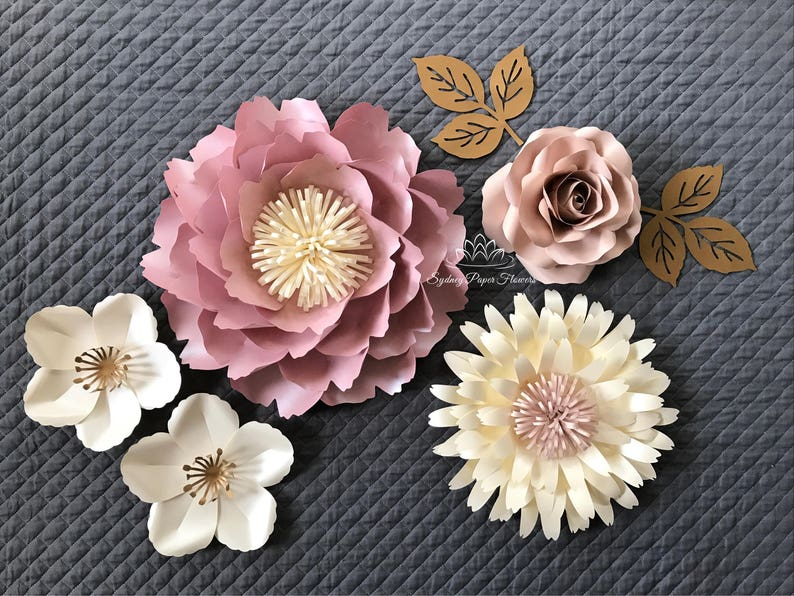 SUPER MINI 5 paper flower backdrop/Paper flower wall/Wedding image 0