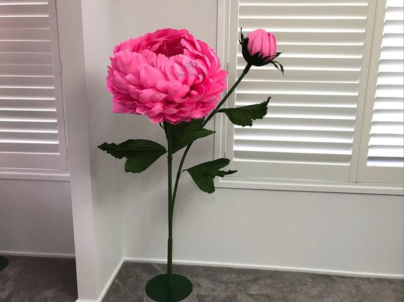 PEONY paper flower freestanding giant/paper flower image 0