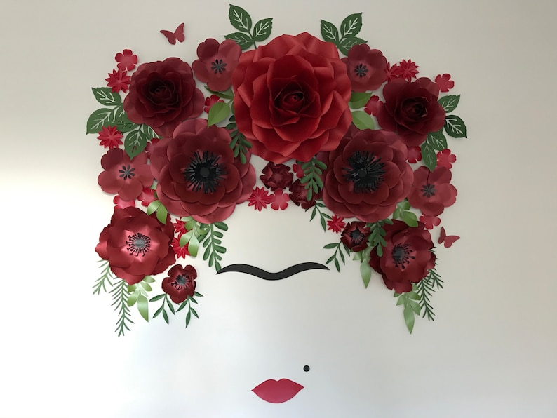FRIDA paper flowers backdrop/Paper flower wall/Wedding image 0