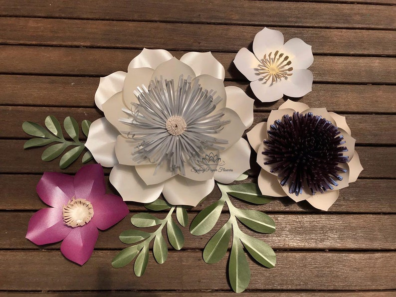 3 in 1 MAGNOLIA Paper Flower Video Tutorial & Templates flower image 0
