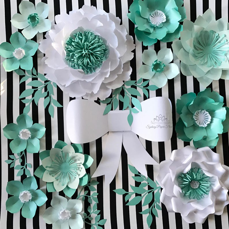 Kate Spade Themed Party Paper Flowers Backdroppaper Flower Etsy