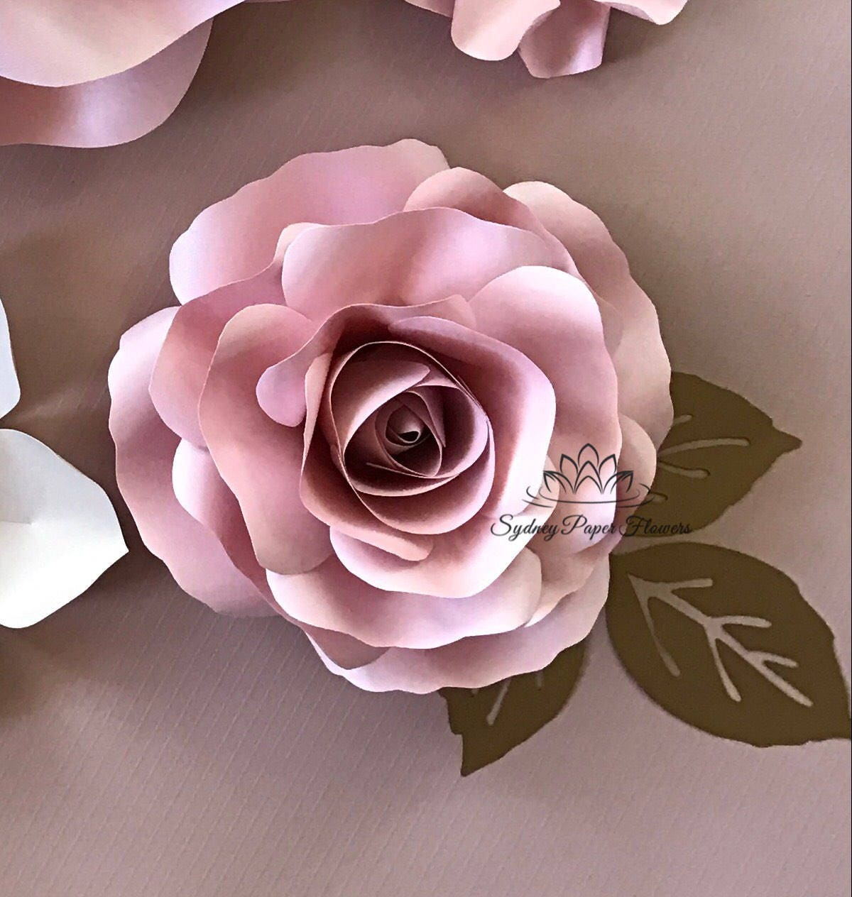 Video Tutorial Template Rose Bud Paper Flowerpaper Flower Pattern