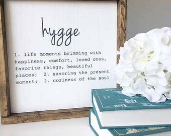Hygge Definition Sign