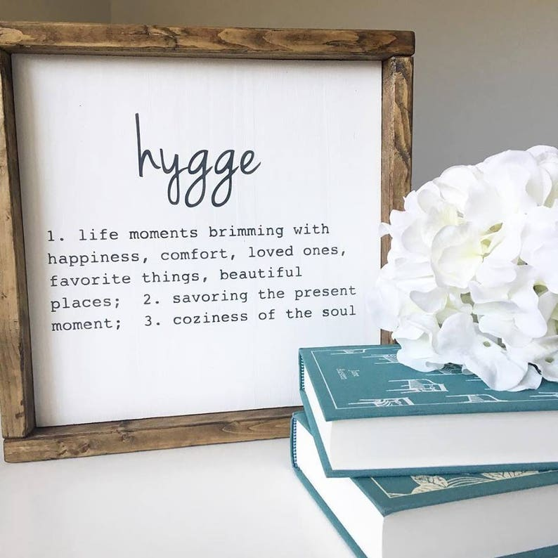 Hygge Definition Sign image 0