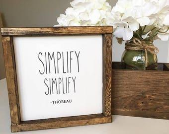 Simplify Thoreau Sign